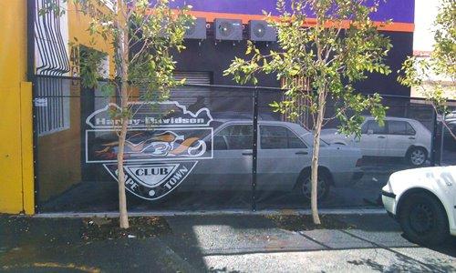 Branded Barrier Netting - Harley Davidson