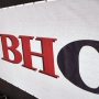 Barrier Netting - WBHO Banner on White Mesh